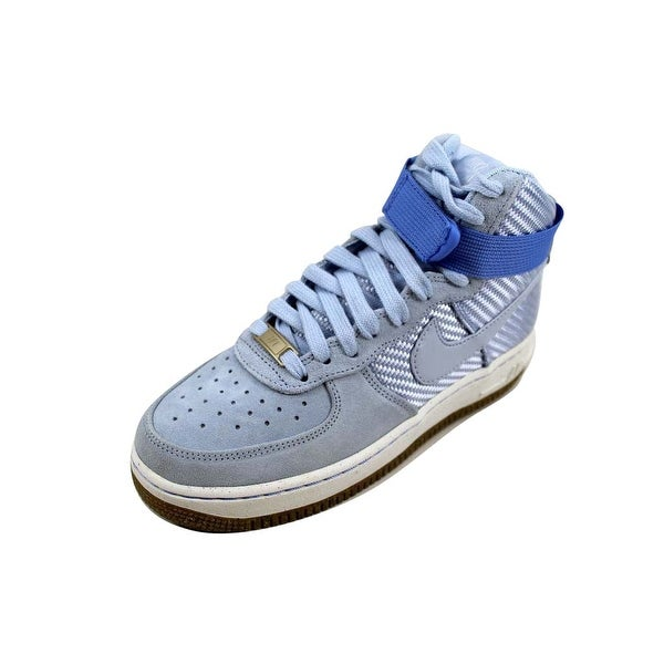 Nike Women's Air Force 1 Hi Premium Porpoise/Porpoise Powder Blue 654440-401