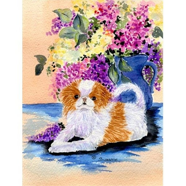 Japanese Chin Canvas Flag - House Size, 28 x 40 in