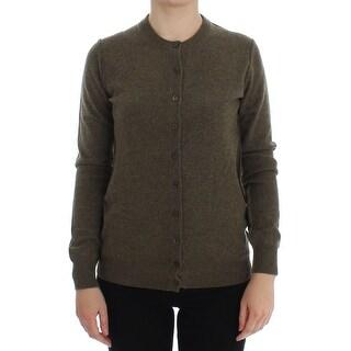 Dolce & Gabbana Brown Cashmere Button Cardigan Sweater - it40-s
