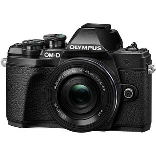 Olympus OM-D E-M10 Mark III Mirrorless Camera with 14-42mm EZ Lens (Black)