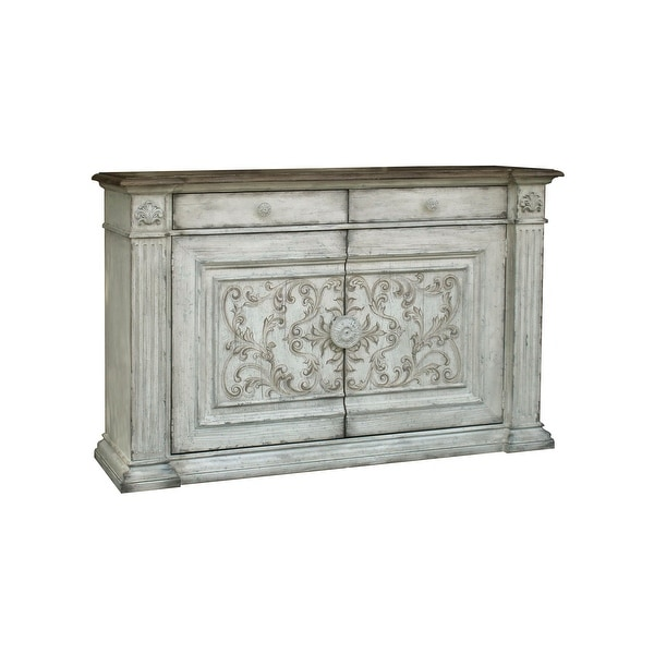 Weathered White Vintage Sideboard Cabinet Console Table. Opens flyout.