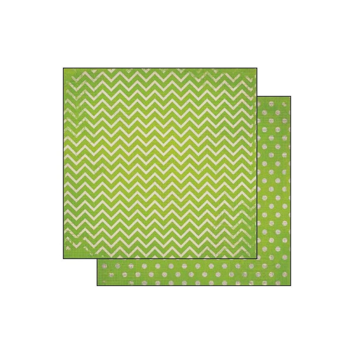 BoBunny 12x12 Scrapbooking paper Double Dot Collection island mist x 2 sheets