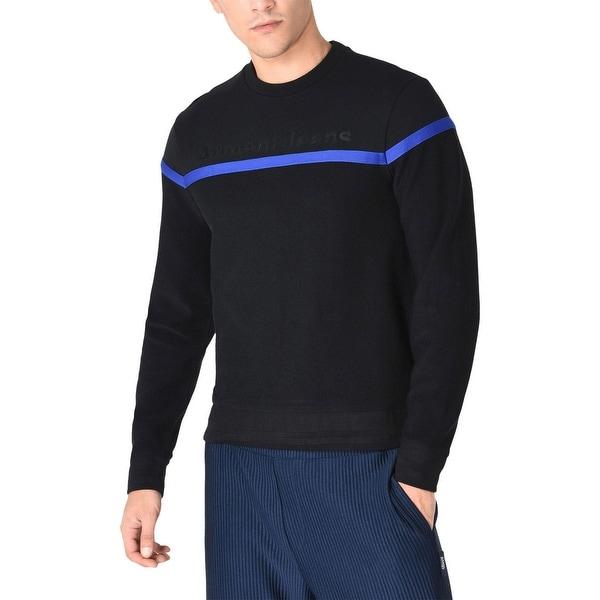 Armani Jeans Mens Embroidery Logo Sweatshirt Medium Black/Blue. Opens flyout.