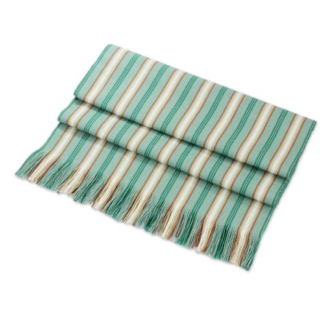 """Handmade Forest Path Cotton Table Runner (Guatemala) - 54"""" L x 14.25"""" W"""