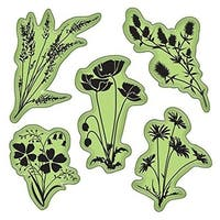 Inkadinkado  4 x 4 in. Stamping Gear Cling Stamps - Meadow Flowers