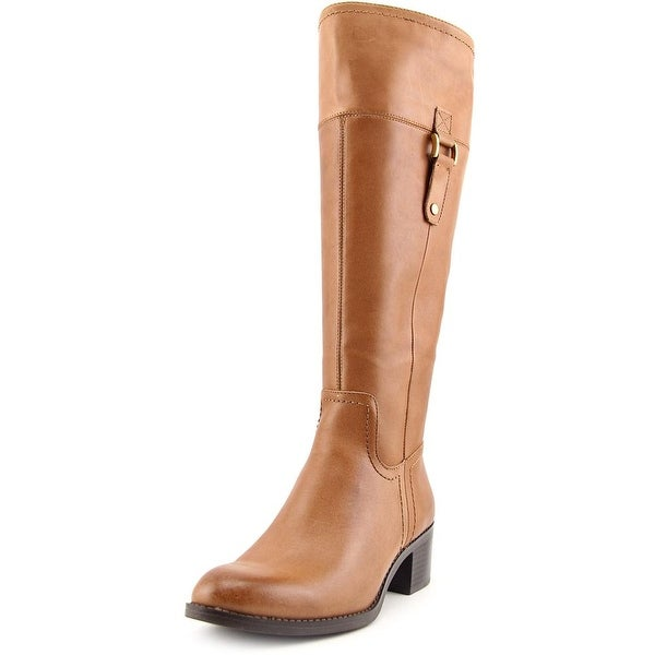 Franco Sarto Lizbeth Wide Calf   Round Toe Leather  Knee High Boot