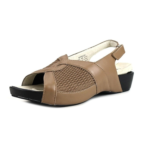 Ped Rx By Propet Madeline N/S Open-Toe Leather Slingback Sandal