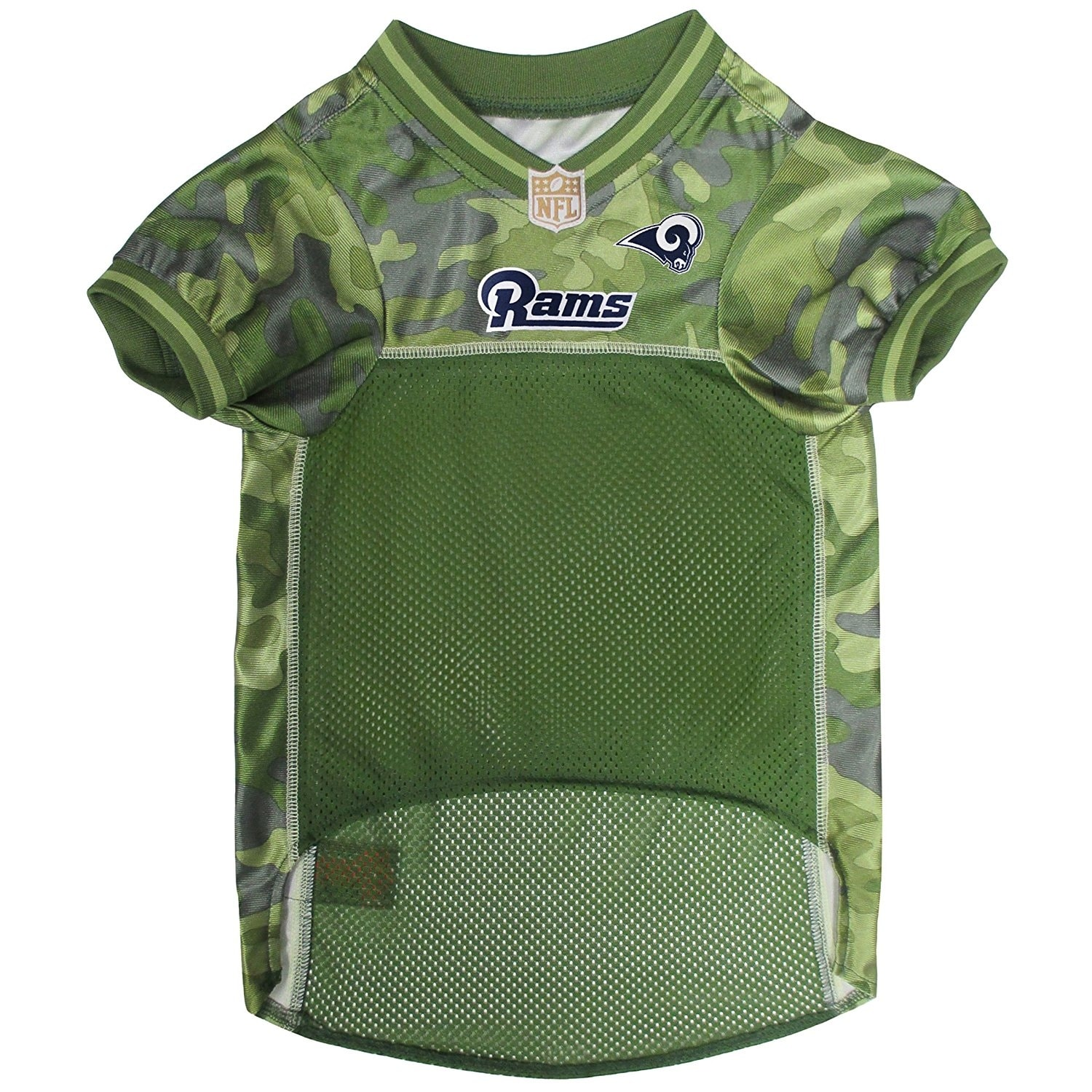 d4b57e59 NFL Los Angeles Rams Camouflage Pet Jersey For Dogs & Cats
