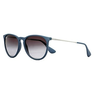 Ray Ban Erika RB4171 6002/8G Matte Blue/Gunmetal Grey Gradient Sunglasses - matte blue - 54mm-18mm-145mm