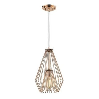 Zlite 442MP-CR 9.25 x 9.25 x 15.75 in. Quintus Copper Mini Pendant