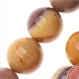 Mookaite Gemstone Beads, Round 8mm, 15.5 Inch Strand, Multi