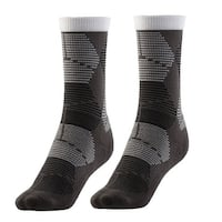 Adult Unisex Breathable Sports Stockings Running Jogging Hiking Socks Gray Pair