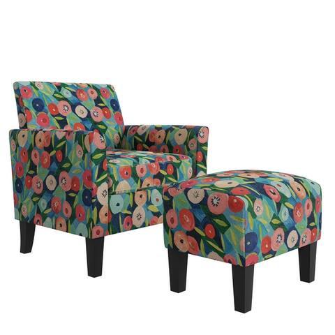 Copper Grove Maritza Half Round Arm Chair and Ottoman