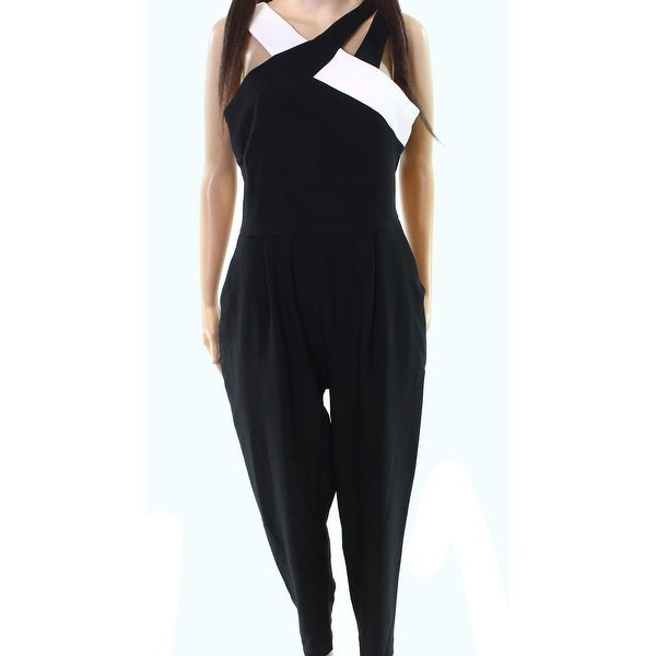 01976326914 Shop Maggy London Women s Contrast Strappy Jumpsuit - Free Shipping Today -  Overstock.com - 26960133