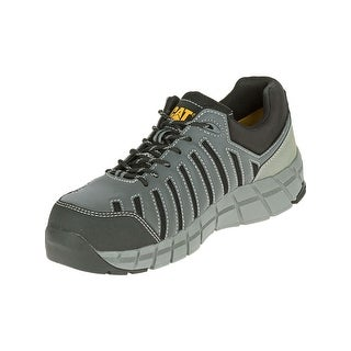 Caterpillar Mens Chromatic Composite Toe Work Shoes in Dark Shadow/Black