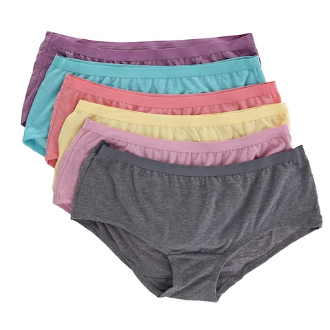 Fruit of the Loom Women's Boy Short Underwear (6 Pair Pack)