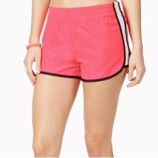 Material Girl Active NEW Pink White Size Medium M Juniors Running Shorts 283