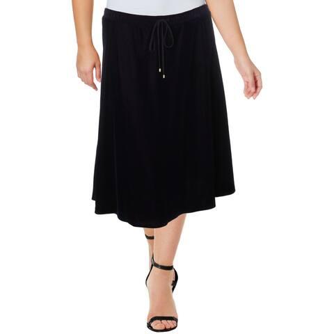Lauren Ralph Lauren Womens Kristayn A-Line Skirt Velveteen Below Knee