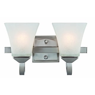 Design House 514752 Torino 2 Light Wall Mount Interior Light, Satin Nickel
