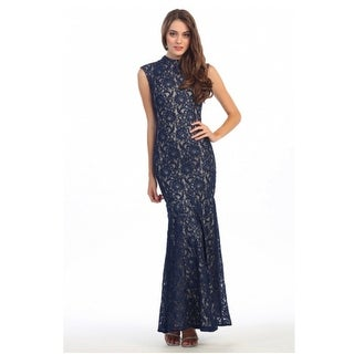High Neck Lace Fit & Flare