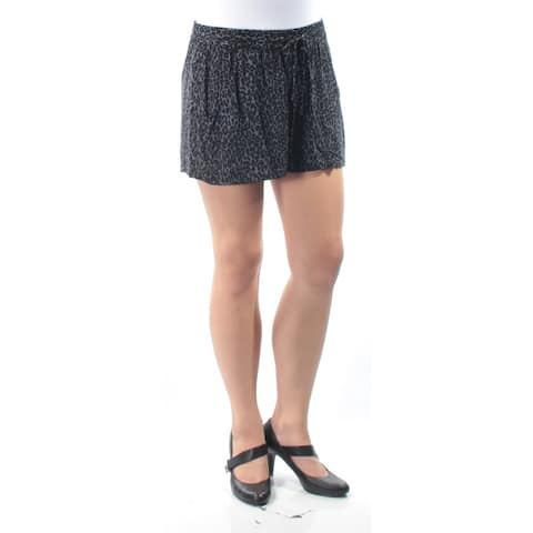 FRENCH CONNECTION Womens Black Pocketed Animal Print Short Size: 10