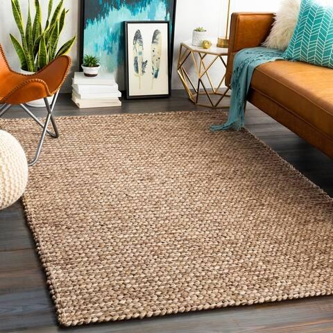 Megumi Handmade Braided Wool Blend Area Rug