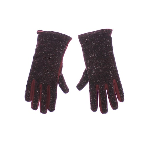 Dolce & Gabbana Mens Red Fabric Leather Wrist Gloves Men's Hand - M