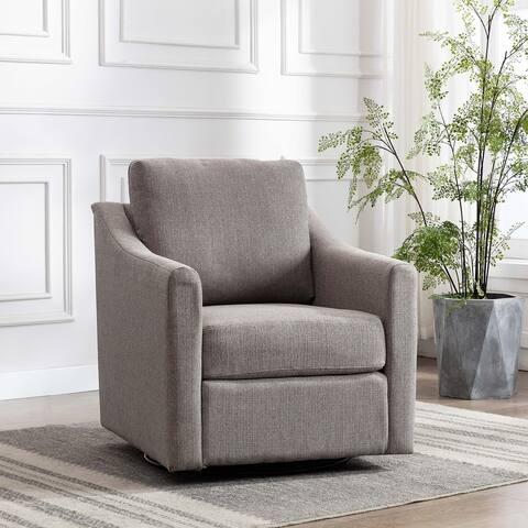 WOVENBYRD Swoop Arm Swivel Chair