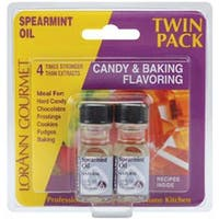 Spearmint Oil - Candy & Baking Flavoring .125Oz Bottle 2/Pkg
