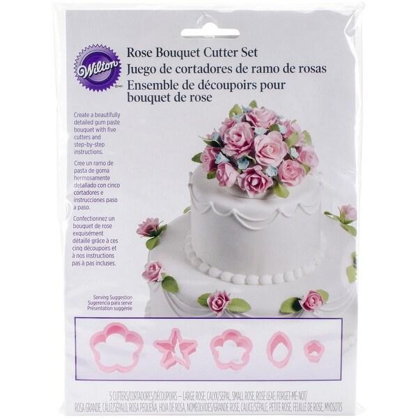 Flower Cutter Set 6/Pkg-Rose Bouquet