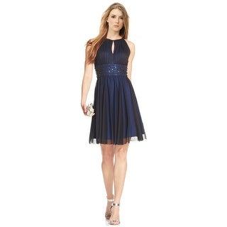 Jessica Howard Sleeveless Keyhole Embellished Cocktail Dress - 12