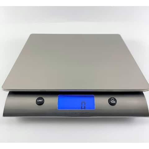 AccuWeight Platinum Series - 10 kg Digital Stainless Steel Kitchen Scale