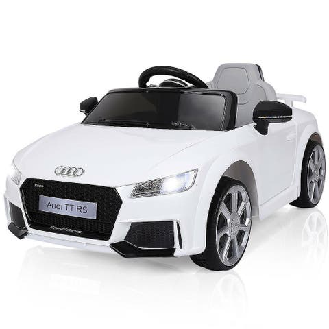 Costway White 12V Audi TT RS Electric Kids Ride On Car Licensed Remote