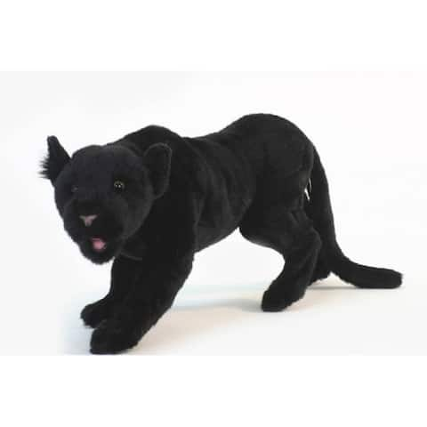 """Pack of 2 Life-like Handcrafted Extra Soft Plush Black Panther Prowling Stuffed Animals 21.75"""""""