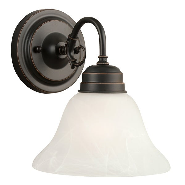 Design House 514497 Millbridge 1-Light Wall Mount, Oil Rubbed Bronze