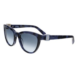Salvatore Ferragamo SF817S 235 Blue Wayfarer Sunglasses - 54-20-135