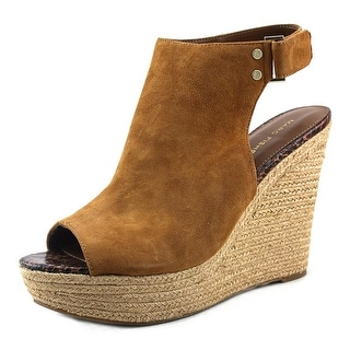 Marc Fisher Hybrid Open Toe Suede Wedge Heel