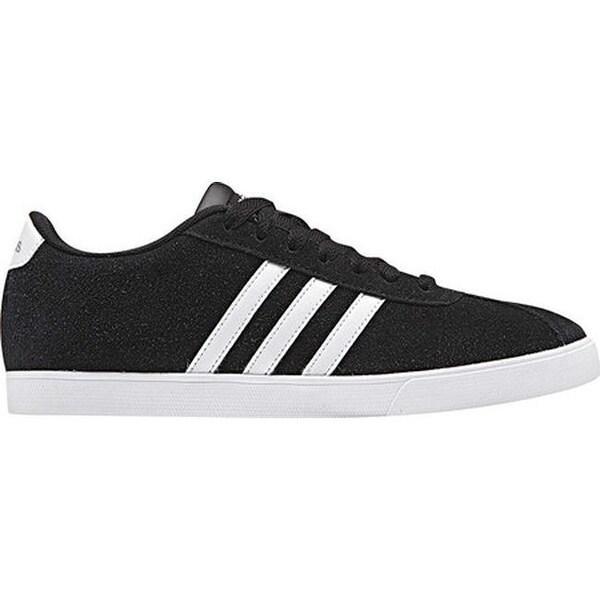 adidas Women's NEO Courtset Sneaker Core BlackWhiteMatte Silver