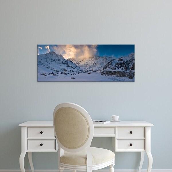 Easy Art Prints Panoramic Image 'Snowcapped mountain, Annapurna Base Camp, Himalayas, Nepal' Canvas Art