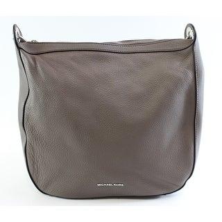 Michel Kors NEW Cinder Gray Pebbled Leather Large Raven Shoulder Bag