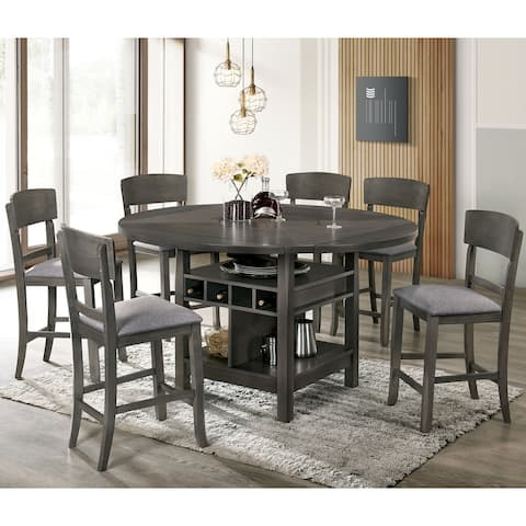 Furniture of America Drov 7-piece Counter Height Dining Set
