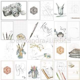 "Card Sheet Travel For You - Alexandra Renke Midori Basic Design Paper 12""X12"" (25/Pack)"