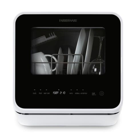 Farberware Professional FDW05ASBWHA Compact Portable Countertop Dishwasher - White