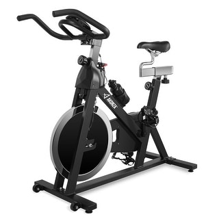 AKONZA Exercise Stationary Bike Fitness Indoor Cycling Bicycle Workout 40lb Flywheel LCD Display