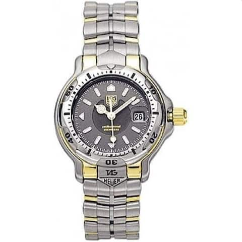 Tag Heuer Women's WH1352.BD0680 '6000' Two-Tone 18kt Gold and Stainless Steel Watch - Grey