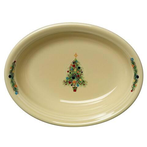 Fiesta Oval Vegetable Bowl Christmas Tree Ivory - 12 x 9 x 2.5