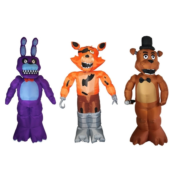 Five Nights at Freddy's Inflatable Halloween Decorations: Bonnie, Foxy, Freddy