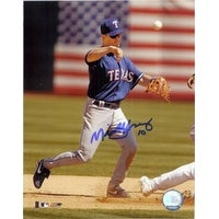 Signed Young Michael Texas Rangers 8x10 Photo autographed