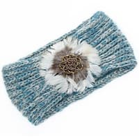 Mad Style Blue Feather Headwrap