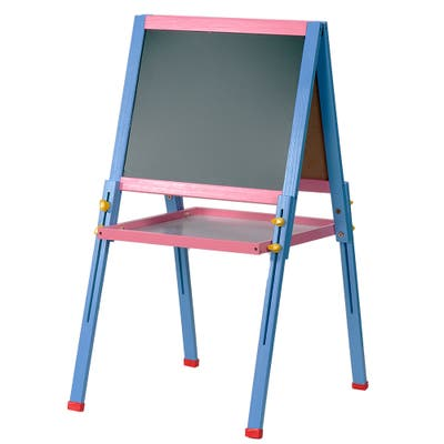 2 in 1 Wooden Kids Easel, Adjustable Drawing Board, for Boys Girls Painting - 14.7 x 15 inch